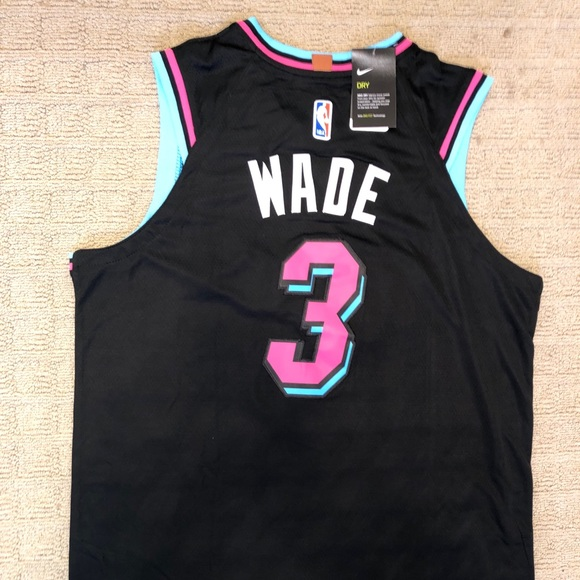 buy online b530d 31706 Dwyane Wade Miami Vice Jersey NWT